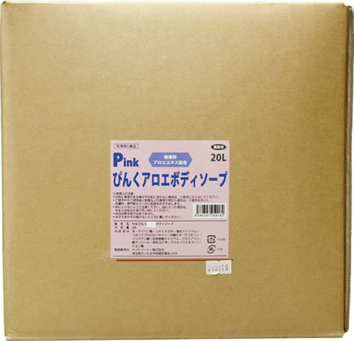副好意教【無香料】【アロエ成分配合】モナミPINKぴんくボディソープ20L