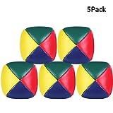 INTVN 5 Pelotas de Malabares Fáciles, Beginners Juggling Balls, Bolas de Malabares Suaves de la PU Paras Juggling Ball para Principiantes Niños Adultos Creative Funny