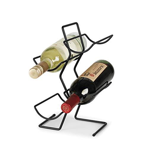 Hierro Forjado Estante De Vino – Decoración De La Casa Rústica Vinoteca De Pie Para Vinos Tintos Y Blancos,Countertop