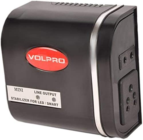 VOLPRO Upto 32 Inch LED LCD Smart TV Voltage STABILIZER Black
