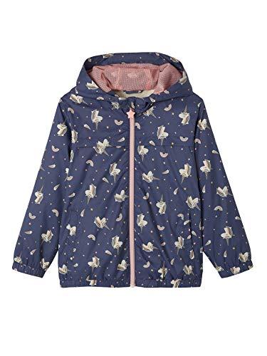 Vertbaudet - Cortavientos con unicornios plegables en su bolsillo integrado para niña Encre Imprimé 4 años