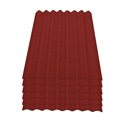 Onduline Easyline Dachplatte Wandplatte Bitumenwellplatten Wellplatte 6x0,76m² - rot