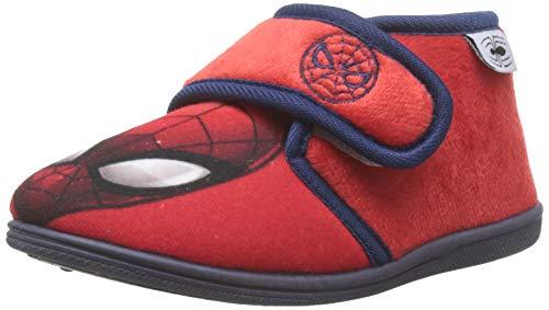 Cerdá Zapatillas De Casa Media Bota Spiderman, Niños, Rojo (Rojo C06), 24 EU