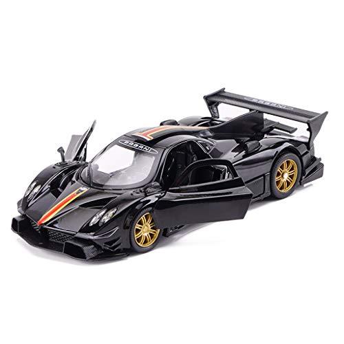 Yxsd Roadster Pagani Zonda Modello Auto Die-Casting Scala 1:32 - Ornamenti di Giocattoli in Lega di Simulazione Sports Car Collection - 25.8x11.7x7.2CM (Color : Black)