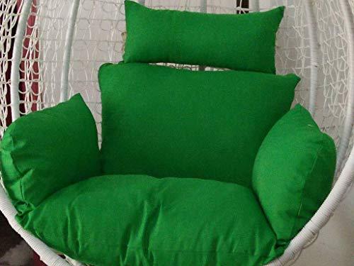 DZX Cojines para Columpios de ratán para Colgar, Cojines Gruesos para Silla de Hamaca Colgante de una Sola Cesta, Lavable, Verde (Color: Verde) (Excluyendo la Silla)