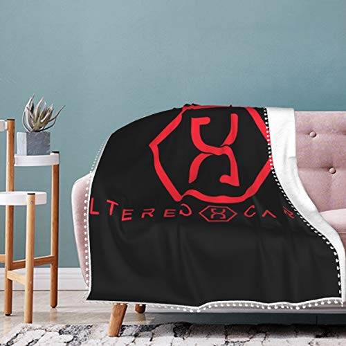 Altered Carbon Helix Logo Pompom Edge Blanket Comfortable Washable Luxury Bed Blanket Throw Blanket Fits Sofa Bed Room Chair 50' X40