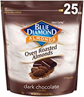 Blue Diamond Almonds Oven Roasted Dark Chocolate Flavored Snack Nuts, 25 Oz Resealable Bag (Pack of 1)