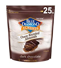 Contains 1 - 25 ounce bag Covered with real cocoa power for a rich chocolate flavor 5 gram of protein per serving, 3 gram of fiber Cholesterol free, gluten-free, 0 trans fat Our unique roasting process holds in freshness for the right crunch
