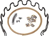 House2Home 23' Sofa Upholstery Spring Replacement Kit- 2pk Springs, Clips, Wire for Furniture Chair Couch Repair Includes Instructions