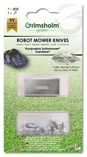 Turn-around - Cuchillas para cortacésped (9 unidades)
