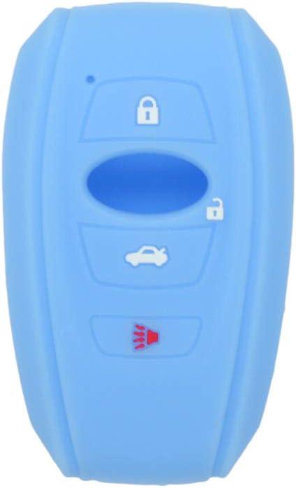 SEGADEN Silicone Cover Protector Case Holder Skin Jacket Compatible with SUBARU 4 Button Smart Remote Key Fob CV4255 Deep Purple