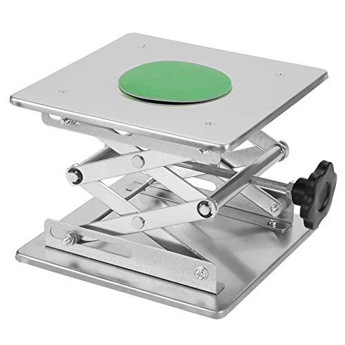 Akozon Labor Hebeplattform 7.9x7.9 '' Scientific Labor Scissor Jack, Edelstahl Labor Hebebühne Ständer Rack Scissor Lab-Lift Heber Für Graviermaschine