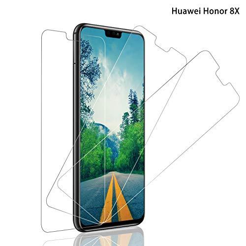 SNUNGPHIR® Cristal Templado Huawei Honor 8X, [3-Pack] Protector Pantalla Huawei Honor 8X Cristal Templado [2.5d Borde Redondo] [9H Dureza] [Alta Definición] [Anti-Arañazos] [Anti-Huella Digital]