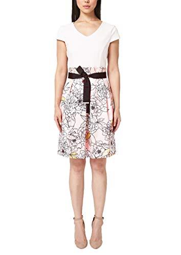 s.Oliver BLACK LABEL Damen 11.903.82.7010 Kleid, Rosa (Sheen Nude AOP 40a1), (Herstellergröße: 46)