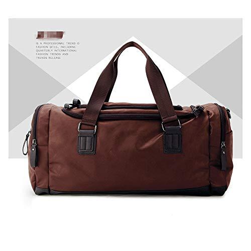 ZzheHou - Borsa da palestra, da uomo, per il tempo libero, grande capacità, una spalla diagonale, borsa da viaggio, colore: Brown, taglia: One Size)