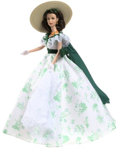 Mattel Barbie Coleccionables, Timeless Treasures Series: Scarlett O'Hara Gone with The Wind Bar – B – Que Doll