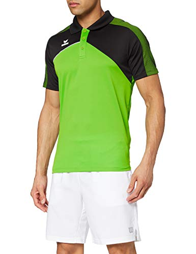 Erima 1111813 Polo Femme, Green/Noir/Blanc, FR : S (Taille Fabricant : 36)