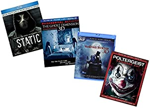 Ultimate Blu-ray 3D Horror Collection: Static / Paranormal Activity 4: The Ghost Dimension / Abraham Lincoln: Vampire Hunter / Poltergeist [Horror 3D Bluray Set]