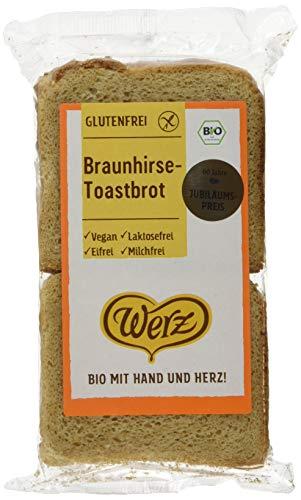 Werz Braunhirse-Toastbrot, glutenfrei, 2er pack (2 x 250g)
