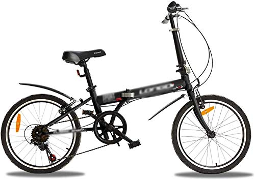 Bicicleta al aire libre Hombres Mujeres Bicicleta plegable Bicicleta urbana Streamline Marcos Bicicletas plegables 20 pulgadas 6 velocidad Mini bicicleta plegable -B_20 pulgadas