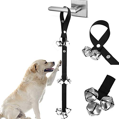 WOHENI Dog Doorbells for Potty Training, Adjustable Puppy Bells for Training Puppis, Doggis, Housebreaking, Go Outside - Potty - 7 Extra Large DoorBells