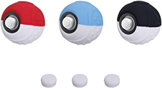 Cybcamo Silicone Grip for Poké Ball Plus Controller, Anti-slip Protective Case Cover with Thumbsticks for Pokémon Let's Go Pikachu/Eevee Game for Nintendo Switch - 3 Pack