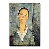 zkpzk Pintura Antigua Amedeo Modigliani Famoso Arte En Lienzo Impresiones Artísticas Pintura Abstracta Cuadros De Pared Sala De Estar Decoración De La Galería -50X75Cmx1 Sin Marco