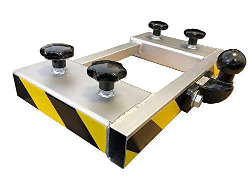 Gabelstapler Rangierhilfe Silber Doppel-Gabel Anhänger Kugelkopf Anhängerkupplung