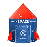 Large Play Tent for Kids, Foldable Pop Up Fort Indoor and Outdoor Playhouse for Boys