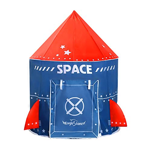 EagleStone Play Tent for Kids Playhouse Fort Indoor and Outdoor Pop Up Tent Space Ship Rocket Tent