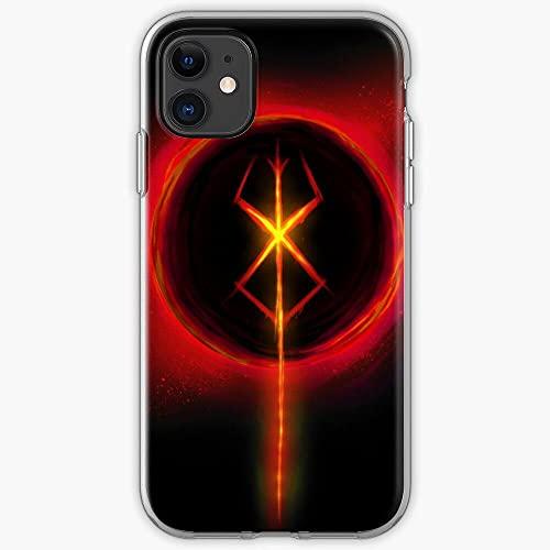 DIAOD Funda iPhone X/Funda iPhone XS Ultra-Thin Soft Frosted Semi-Transparent Phone Case Berserk P_071