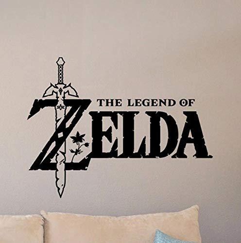 Die Legende von Zelda Wandtattoo Meister Schwert Poster Videospiel Aufkleber Gamer Raumschild Kinderzimmer Dekor Vinyl Aufkleber Spielzimmer 74 * 57Cm