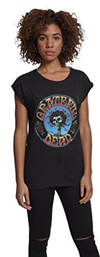 MERCHCODE Damen Grateful Dead Head Tee T-Shirt, Schwarz, XS