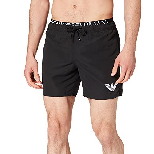 Emporio Armani Swimwear Boxer Logoband Costume da Bagno, Black, 50 Uomo
