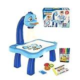 ZHIRCEKE Máquina de Pintura de proyección Inteligente de Tablero de Tablero de Tablero para niños, traza y Dibujar Juguete de Juguete de Juguete de Dibujo Mesa de proyector,A