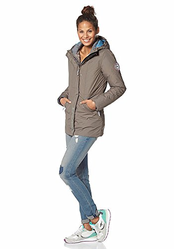 KangaROOS Damen 3in1 Mantel Jacke (36, Natur)