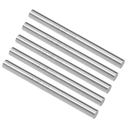 uxcell Round Steel Rod, 8.5mm HSS Lathe Bar Stock Tool 100mm Long, for Shaft Gear Drill Lathes Boring Machine Turning Miniature Axle, Cylindrical Pin DIY Craft Tool, 5pcs