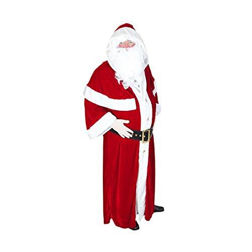 Déguisement du Père Noël Européen Luxe (Standard - Taille unique jusqu'au 54)
