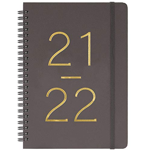 2021-2022 Planner - Academic Planner 2021-2022, Weekly & Monthly Planner 2021-2022 with Tabs, July 2021 - June 2022, 6.45' x 8.45', Flexible Cover with Twin-Wire Binding, Banded