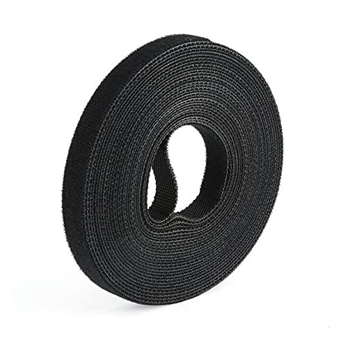amarre de alambre Black Nylon Cable Ties Belting Velcros Adhesivo Cable de...