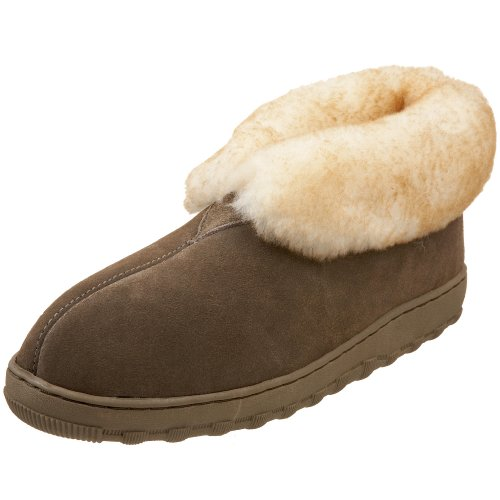 Tamarac by Slippers International Mens Highlander Sheepskin Ankle Bootie, Driftwood,11