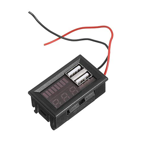 Yongenee Module Battery Indicator Battery Voltage Display Meter 5pcs Dual USB 12V To 5V Step-down DIY kit