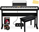 Casio CDP-S350 88-Key Compact Digital Piano Bundle with CS-46 Stand, SP-34 Three Pedal System, Furniture-style Bench, Instructional Book and DVD, and Polishing Cloth