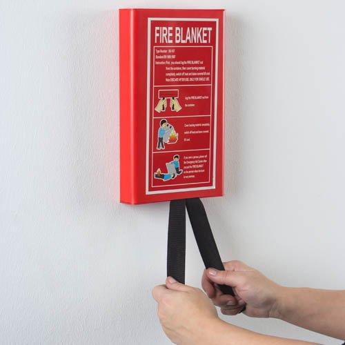Reer Löschdecke, 1 x 1,2 m mit Aufhängevorrichtung Feuerlöschdecke Brandschutzdecke