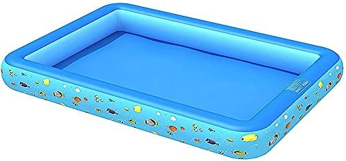 Piscinas WHLONG Inflable Impreso PVC Cuadrado Piles HOGor Pesca para niños (Size : B)