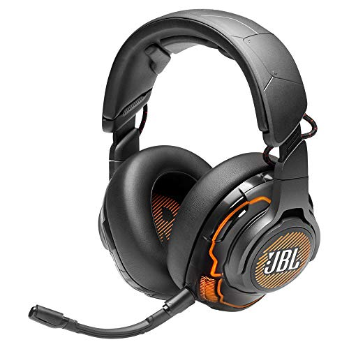 JBL Quantum ONE by Harman USB Wired Over-Ear Professional Gaming Headset with Head-Tracking Enhanced JBL Quantum Sphere 360 & DTS Headphone X (Black)