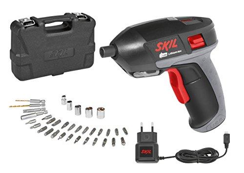 SKIL 2636 AD Akkuschrauber mit LED-Arbeitsleuchte, Bits, Bithalter, Stecknüsse, etc. im Kunststoffkoffer - F0152636AD