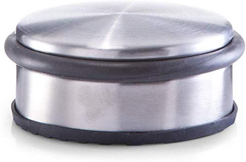 Zeller 13801 Tope para Puerta, Acero Inoxidable, Gris, 10x10x4.5 cm