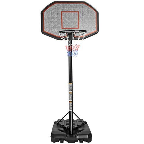 TecTake Panier de Basket, Stable et Réglable, sur Pied Mobile, réglable en Hauteur