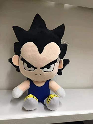 Dibujos Animados Anime Dragon Ball Z Juguete de Peluche Super Saiyan Son Goku Vegeta Curreing Tronco Niños Mini Muñeca Llavero Coche Pendiente (Color: Son Goku, Altura: 18-20 cm) YMMSTORY